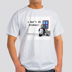 I Don't Do Windows Ash Grey T-Shirt
