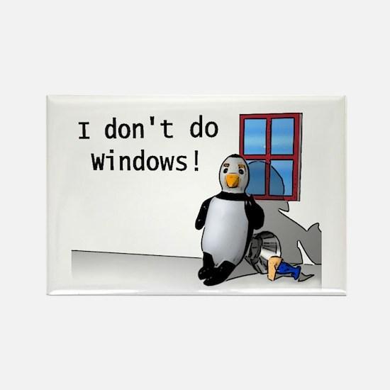 I Don't Do Windows Rectangle Magnet