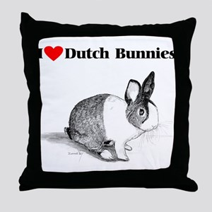 Dutch Bunny Throw Pillow