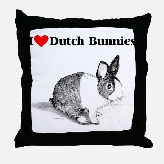Dutch Bunny Throw Pillow