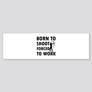 Born to Shoot Sticker (Bumper)