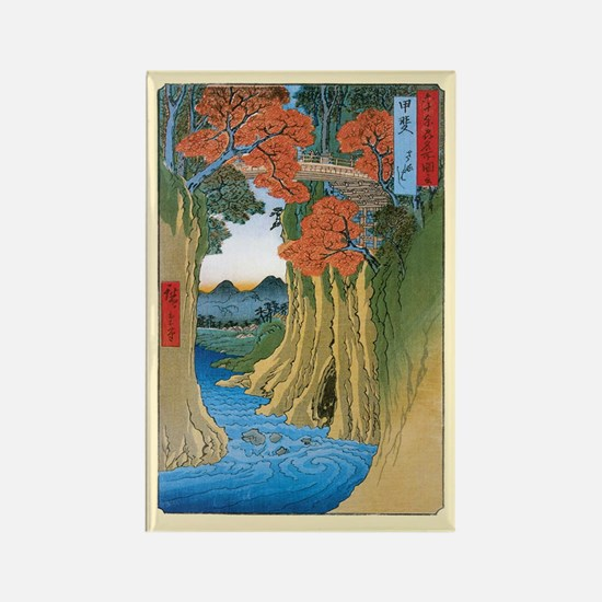 Autumn in Old Edo Rectangle Magnet