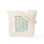Green laurel checklist Tote Bag