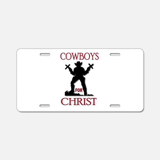 SALVATION TRAIL Aluminum License Plate