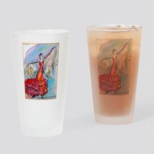 Flamenco Dancer, colorful, ar Drinking Glass