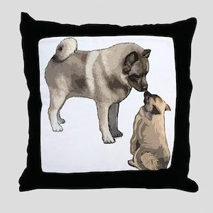 Norwegian Elkhound mother Throw Pillow