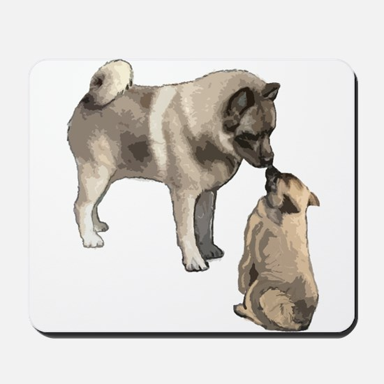 Norwegian Elkhound mother Mousepad