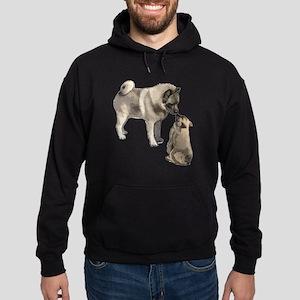 Norwegian Elkhound mother Hoodie (dark)