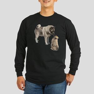 Norwegian Elkhound mother Long Sleeve Dark T-Shirt