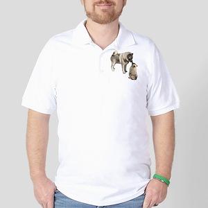 Norwegian Elkhound mother Golf Shirt