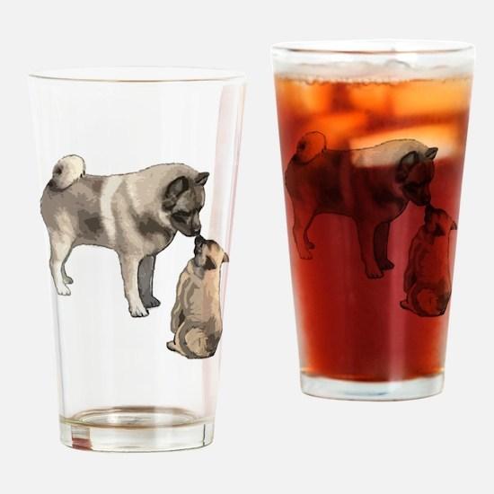 Norwegian Elkhound mother Drinking Glass