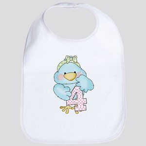 4th Birthday Bird Bib