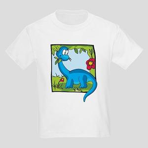 Cute Brontosaurus Kids Light T-Shirt