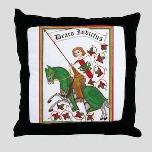 Draco Invictus Throw Pillow