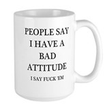 Attitude humor Large Mugs (15 oz)