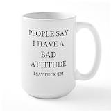 Attitude humor Large Mugs (15 oz)