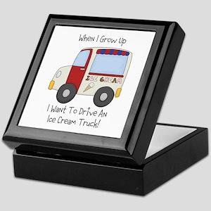 Drive IceCream Truck Keepsake Box