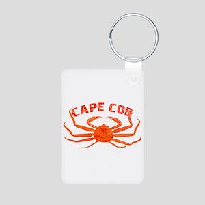 Cape Cod Crab Aluminum Photo Keychain