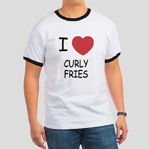 I heart curly fries Ringer T