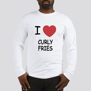 I heart curly fries Long Sleeve T-Shirt