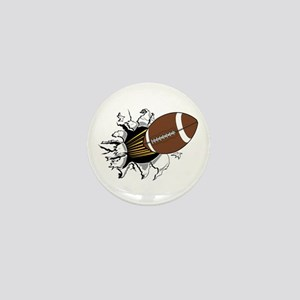Football Burster Mini Button