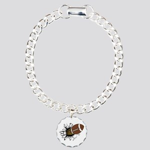 Football Burster Charm Bracelet One