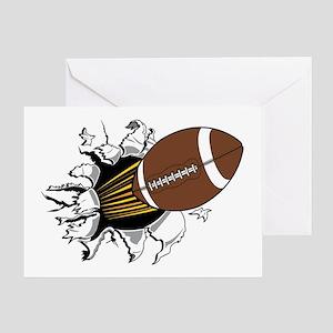 Football Burster Greeting Card