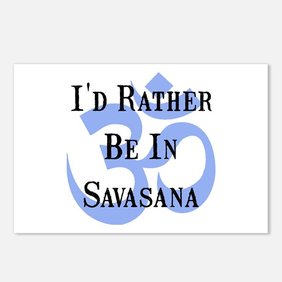 Rather Be In Savasana Postcards (Package of 8)