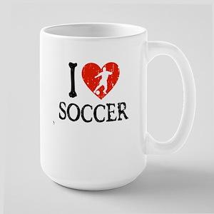 I Heart Soccer - Guy 2 Large Mug