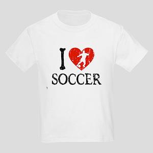 I Heart Soccer - Guy 2 Kids Light T-Shirt