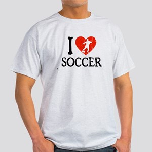 I Heart Soccer - Guy 2 Light T-Shirt