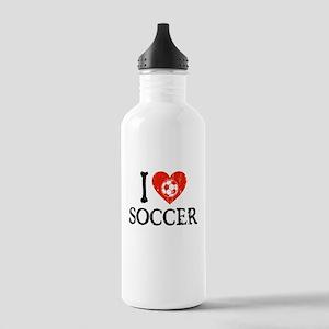 I Heart Soccer - Generic Ball Stainless Water Bott