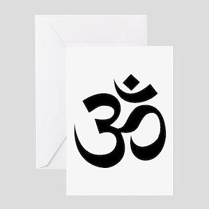 Yoga Om Greeting Card