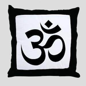 Yoga Om Throw Pillow