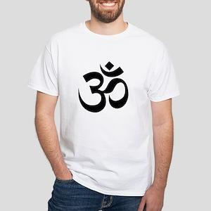 Yoga Om White T-Shirt
