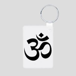 Yoga Om Aluminum Photo Keychain
