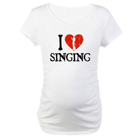 I Heart Singing - Girl Maternity T-Shirt