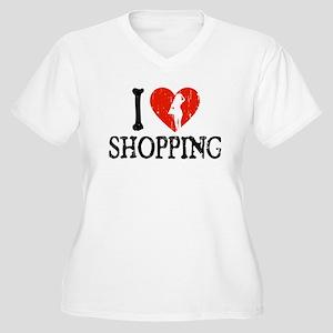I Heart Shopping Women's Plus Size V-Neck T-Shirt