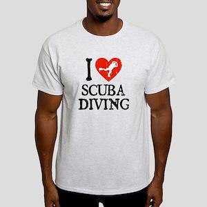 I Heart Scuba Diving Light T-Shirt