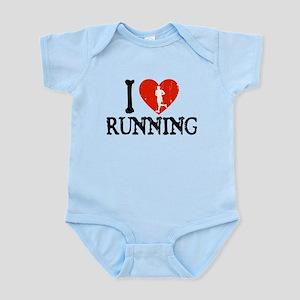 I Heart Running Infant Bodysuit