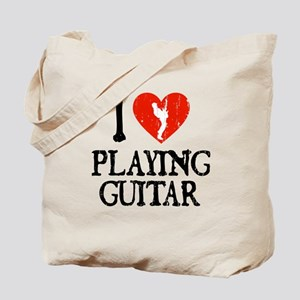 I Heart Playing Guitar Tote Bag