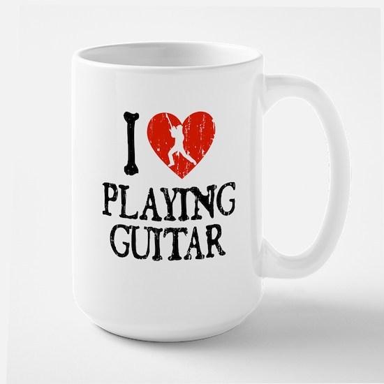 I Heart Playing Guitar 2 Large Mug