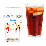 Geeks vs. Jocks I Drinking Glass