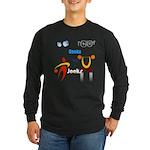 Geeks vs. Jocks I Long Sleeve Dark T-Shirt