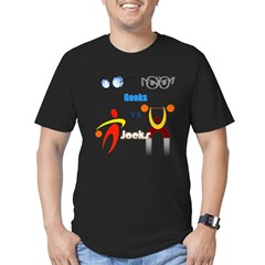 Geeks vs. Jocks I Men's Fitted T-Shirt (dark)