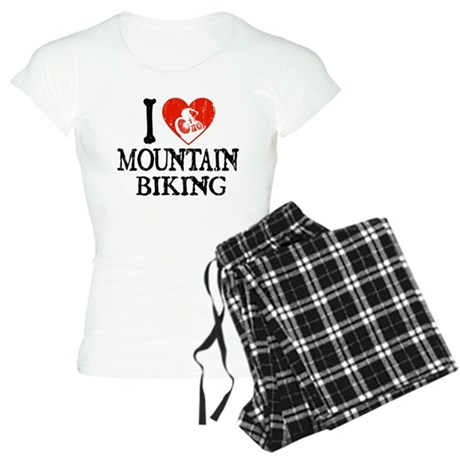 I Heart Mountain Biking Women's Light Pajamas