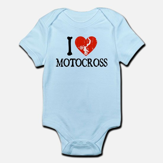 I Heart Motocross Infant Bodysuit