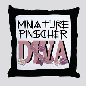 Min Pin DIVA Throw Pillow