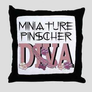 Min Pin DIVA Throw Pillow