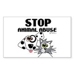 Stop Animal Abuse - Sticker (Rectangle)